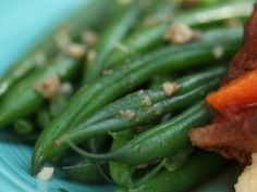 Dave Pearson's Green Beans with Anchovy and White Wine from CookingChannelTV.com