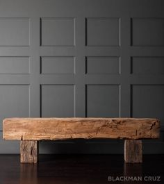 Primitive Bench from a Monastery Beam