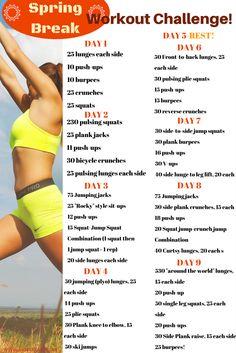 Spring Break Workout Challenge! – Big Fit Fam