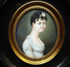 Rare Miniature Portrait Young Woman Down-Syndrome 1810   eBay