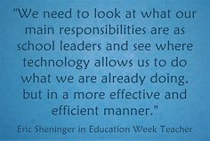 Interview with Larry Ferlazzo for Education Week on Digital Leadership
