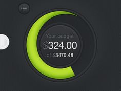 Dribbble - Budget Diagram Green by Vitalii Ustymenko