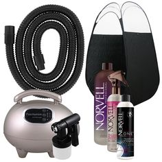 Spray Tanning Kit Machine with Norvell Spray Tan Solution and Black Tent #Norvell