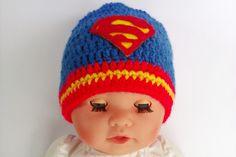 Babymütze Superman Babyfotographie für Jungen
