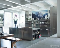 stainless steel kitchen loaded with accessories & character