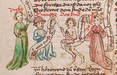 Wolfenbüttel, Herzog August Bibliothek,  Thomasin <Circlaere>   Welscher Gast (W) — Süddeutschland, 3. Viertel des 15. Jhs. Cod. Guelf. 37.19 Aug. 2° Folio 13v