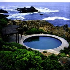 A stunning pool in a stunning location. Juan Grimm designed his own garden at Bahia Azul in Chile.