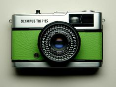 Olympus Trip 35 - refurbished 1970s film camera, green. $85.00, via Etsy.