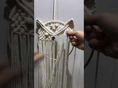 Macrame owl 06 - YouTube Macrame Owl, Macrame Jewelry, Macrame Necklace, Wire Earrings, Wire Jewelry, Handmade Jewelry, Macrame Wall Hanging Diy, Macrame Plant Hangers, Macrame Design