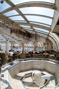 Abandoned Tropical Indoor Swimming Pool Tropicana: Rotterdam by Rutger Geerling