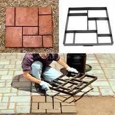 Free Shipping. Buy 8 Grid Garden Paving Mould Plastic Brick Path Maker Stone Model Road Cement DIY 51.5cm at Walmart.com