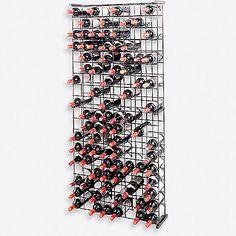 Wine Enthusiast 144-Bottle Metal Grid Wine Rack