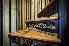 Ivy Stencil Riser Board - Classic Steel Spiral Stair