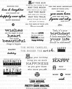 Inside & Out: Birthday II Stamp Set: Papertreyink