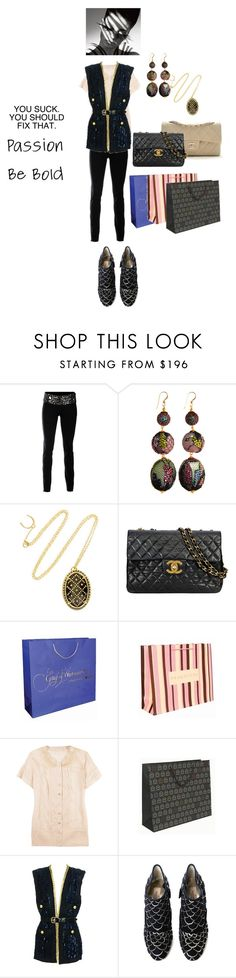 """""""Shoking Promotion"""" by pinkprincess2 ❤ liked on Polyvore featuring Larok, Philip Crangi, Chanel, STELLA McCARTNEY, Marc Jacobs, Valentino, MAC Cosmetics, necklace, lady and shopping"""