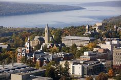 Cornell with Cayuga Lake in background - one of the beautiful Finger Lakes in Central New York.