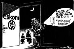 How SA's top cartoonist sees the revolving door of Eskom executives. Revolving Door, Turn Off, Move Mountains, Stand Up, Cancer, Lights, Funny, Cape Town, South Africa