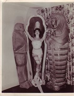 The beautiful Yvonne Furneaux, in the double role of Isobel Banning / Princess Ananka in The Mummy