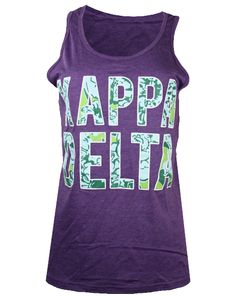 Kappa Delta Floral Tank Top by Adam Block Design | Custom Greek Apparel & Sorority Clothes | www.adamblockdesign.com