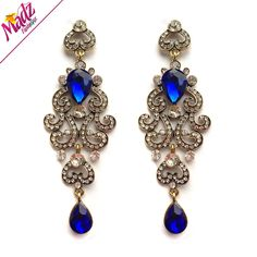 Via Spiga Carita Open Toe Leather Slides Sandal | Wedding, Royals ...:Blue chandelier earrings antique gold or silver plated wedding bridal royal  blue earrings brides ear jewelry,Lighting