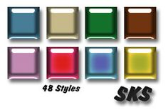 Free Photoshop Glossy Color Layer Styles: Glossy Color Layer Styles by Shelby Kate Schmitz