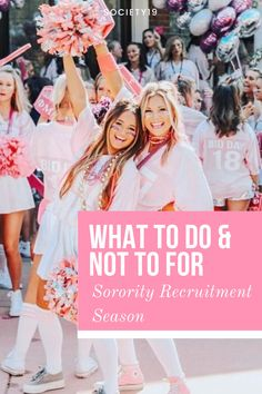 What To Do and Not To For Sorority Recruitment Season College Trends, College Hacks, College Life, Sorority Rush, Sorority Recruitment, I Am Here Now, Rush Week, Meet Girls, Sorority Crafts