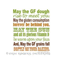 Gluten Free Irish Blessing Sampler in Red, Brown and Gold Kitchen Art Old Irish Blessing, Information Websites, Very Clever, Kitchen Art, Kitchen Quotes, Shangri La, Quotable Quotes, Green And Gold, Free Food