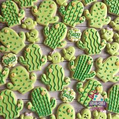 Baby shower food for girl desserts sugar cookies 50 Ideas Baby Cactus, Cactus Cake, Cactus Cupcakes, Cactus Cactus, Shower Bebe, Girl Shower, Comida Para Baby Shower, Rosalie, Flower Cookies