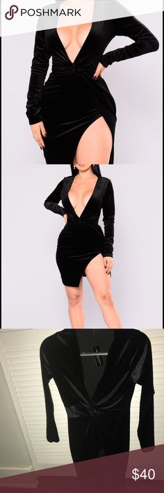 NWT Fashion Nova Women's m Wrap Plunge Dress Same or next day shipping! Fashion Nova Dresses Mini