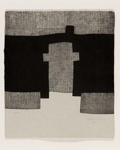 Eduardo Chillida #artiste #contemporain contemporary art abstract art black grey white geometric