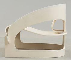 Plywood armchair   Joe Colombo for Kartell   1964