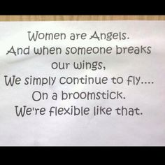 HAHAHAHAHA!! oh gotta love women...:P and we fly...IN STYLE! ;)