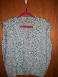 White & Light blue Vest in GrandmasClutter's Garage Sale in Colorado Springs , CO for $5.00.