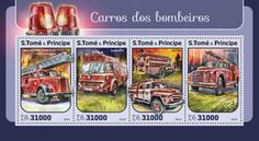 Fire trucks (Mercedes-Benz with aerial ladder; Fire Trucks, Postage Stamps, Ladder, Mercedes Benz, Firefighter, Fire Department, Universe, Vehicles, Stairs