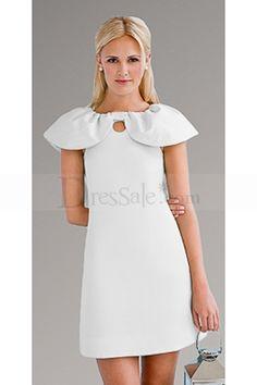 White Dresses with Cute Neckline