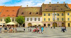 "Sibiu was voted Cultural European Capital in 2007 and named by Forbes as, ""Europe's most idyllic place to live"". Here are 11 things to do in Sibiu. Sibiu Romania, Stuff To Do, Things To Do, Transylvania Romania, Landscape Photos, Places To Go, Street View, Europe, Adventure"