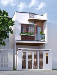 In this case, we wondered which are the most beautiful modern homes that are built. Best Small House Designs, Narrow House Designs, Modern Small House Design, Minimalist House Design, House Outer Design, House Front Design, Townhouse Designs, Bungalow House Design, House Design Pictures
