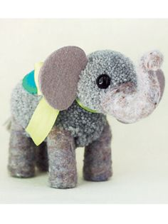 Craft Project: Pompom Elephant Create a mini mammoth in just a few simple steps   Read more: Pompom Elephant - How to Make Pompoms - Woman's Day
