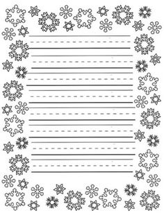 This is a packet of writing papers with borders to utilize in the winter time and for December holidays.  There is a writing paper option for every...