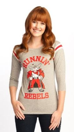 Amazon.com: NCAA UNLV Rebels 3/4 Sleeve Football Tee Women's: Clothing