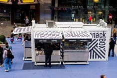 The Snack Box in Time Square.  A cool restaurant made from a shipping container.