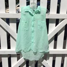 Forever 21 sheer top Never worn just washed  mint green top *FINAL PRICE* Forever 21 Tops