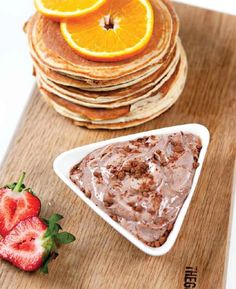 12 healthy, easy & tasty breakfast ideas | Cecilie Lind | 2. Orange Protein Pancakes & Protein Chocolate Mousse – From my book here