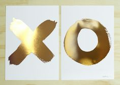 XO Gold Foil Print Set (Medium) | the Blacklist | wall art