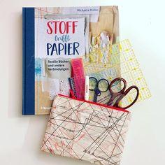 """Quiltmanufaktur Andrea Kollath auf Instagram: """"Heute habe ich was über das neue Buch von Michaela @muellerin_art auf meinem Blog geschrieben 'Soff trifft auf Papier' Das Täschchen aus…"""" Michaela, Magazine Rack, Cover, Diy, Instagram, Paper, New Books, Other, Book"""