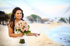 Beautiful Pamella at the Blue Venado Beach Club Wedding -Gown Boutique by Essense of Australia