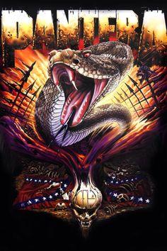 Pantera - Serpent Poster and Poster Mount Bundle Heavy Metal Rock, Heavy Metal Music, Heavy Metal Bands, Hard Metal, Pantera Band, Iron Maiden, Hard Rock, Dimebag Darrell, Rock Band Posters