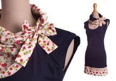 Kleid Leni dunkelblau-Erdbeere von lisi-design auf DaWanda.com
