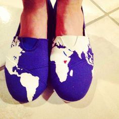 Hand painted TOMs like canvas shoes. My heart is in Africa!