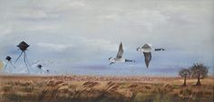 Limited Edition Print or Postcard Flying Geese by DavePollot